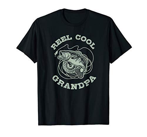 (Fishing Fish Vintage Reel Cool Grandpa Gift T-Shirt )