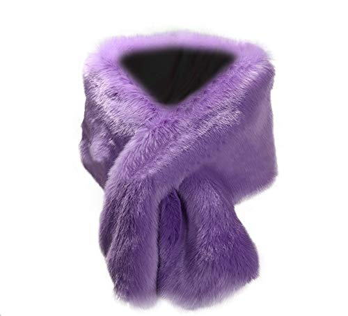 Kevins Bridal Women's Faux Fur Shawl Wraps Cloak Coat Sweater Cape for Evening Party Lavender]()