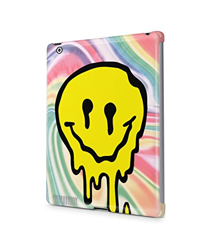 Melting Smiley Face Tie Dye Trippy LSD Acid Plastic Snap-On Case Cover Shell For Apple iPad 2 / 3 / 4 (Tie Dye Ipad 2 Case compare prices)