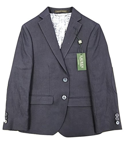 RALPH LAUREN Polo Linen Blazer Boys 8-20 (Navy, 16) by RALPH LAUREN