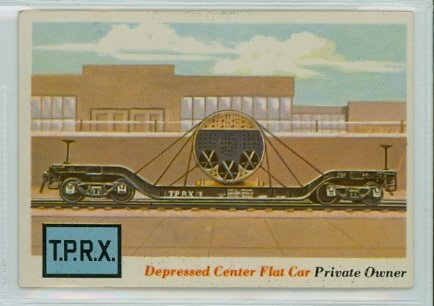 1955 Rails and Sails 17 Depressed Center Flat Car Excellent