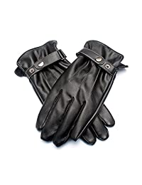 Demon&Hunter Basic Series Men's Screen Touch Lined Warm Leather Gloves DZA5392B
