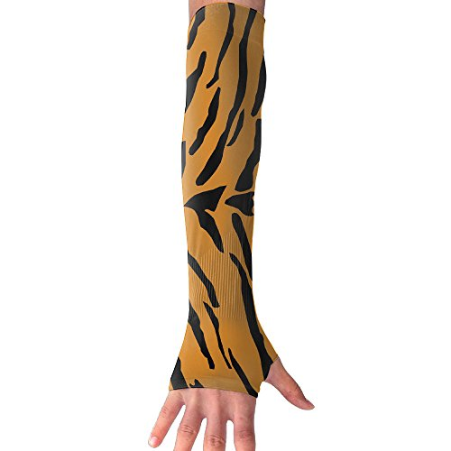 Tiger Print Gloves - Suining Unisex Tiger Pattern Sunscreen Outdoor Sports Arm Warmer Long Sleeves Glove