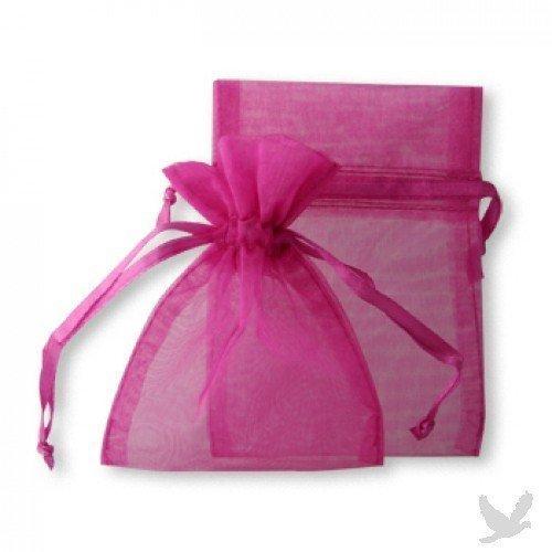 30 Fuschia Wedding Organza Favor Gift Bags 4x6 inch -