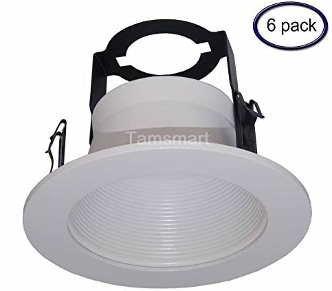 6 Pack---4 Inch Open Baffle Trim with Bracket for Line Voltage Recessed Light/lighting-fit Halo/juno by Joint Bright Lighting: Amazon.es: Bricolaje y herramientas