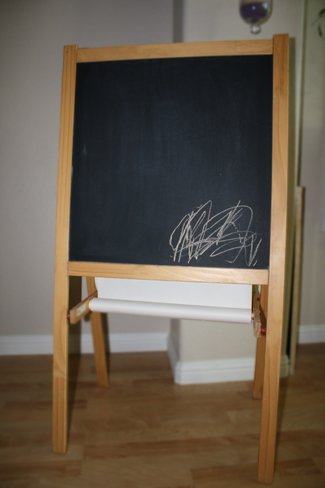 Ikea Childrens Blackboard Whiteboard Two Sided Easel With Paper