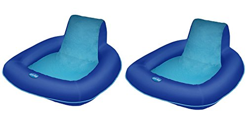 SwimWays Spring Float SunSeat Floating Pool Lounge Chair (2-Pack) | 13017 ()
