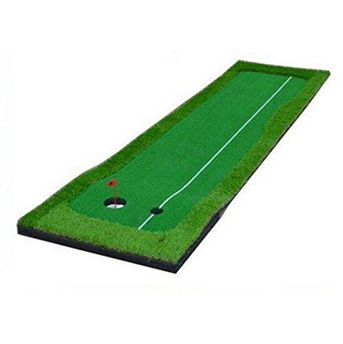 77tech Large Artificial Grass Golf Putting Green Mat Indoor/outdoor Golf Training Aid Equipment Mat (2.5'x10' with Base)
