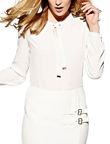 APART Fashion Bluse-Blusa Mujer, Weiß (winterweiß)