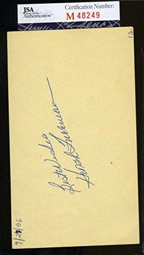 HERSH FREEMAN 1956 SIGNED JSA GPC GOVERNMENT POSTCARD AUTHENTIC AUTOGRAPH
