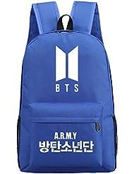 JUSTGOGO Luminous Korean Casual Backpack Daypack Laptop Bag College Bag School Bag