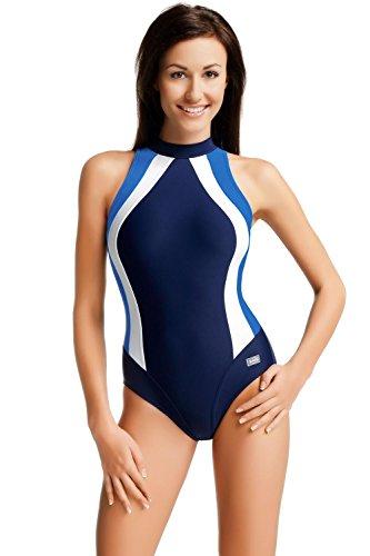 GWinner  - Traje de natación para mujer azul marino