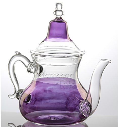Purple Glass Tea Pot