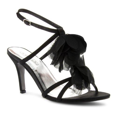 de Footwear Satin Sensation de Black mujer sintético Sandalias vestir negro para x1A1Zq