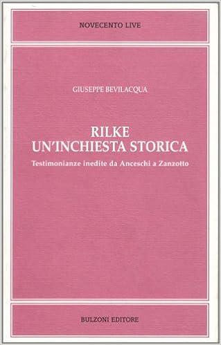Giusepe Bevilacqua, Rilke. Un'inchiesta storica (Cover)
