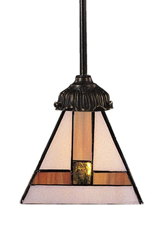 Elk 078-Tb-01 Symmetrical Mix-N-Match 1-Light Pendant, 23-1/2-Inch H, Tiffany Bronze by ELK