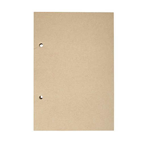 Journal Refills Unlined, MALEDEN Refillable Journal Notebook Blank Paper for 2 Rings Binder Traveler Journal Inserts 200 Pages 100 Sheets (2-Ring Blank)