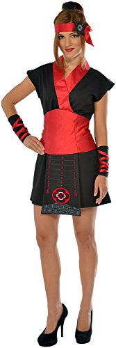 Rubie's Costume Co Women's Ninja Girl Costume, Black/Red, Small (Red Dragon Girl Geisha Costume)