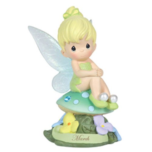 Precious Moments, Disney Showcase Collection,  March Fairy As Tinker Bell, Resin Figurine, Aquamarine, 113210 (Tinkerbell Gift)