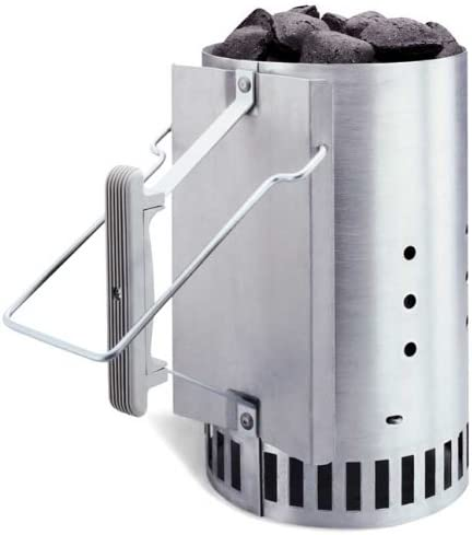 BBQ Chimney Starter Quick Start Speeds up Lighting of Charcoal /& other BBQ Fuels