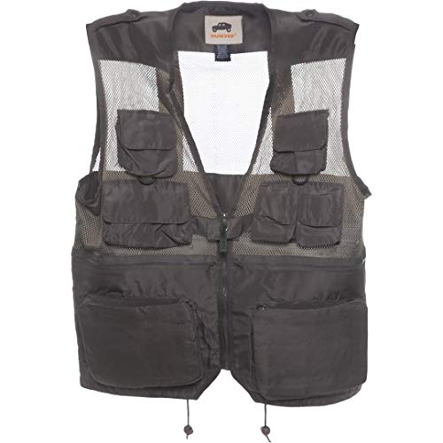 HUMVEE HMV-VC-OD-XXL XX-Large Nylon Combat Vest with Safety Zipper, Olive Drab