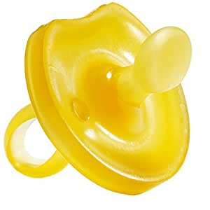 Natursutten BPA Free Natural Rubber Pacifier, Butterfly Orthodontic, 0 - 6 Months