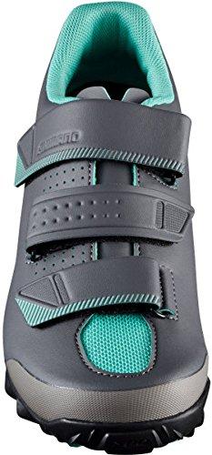 Shimano shme2pg410wl00–Scarpe da ciclismo, 41, nero–verde, donna