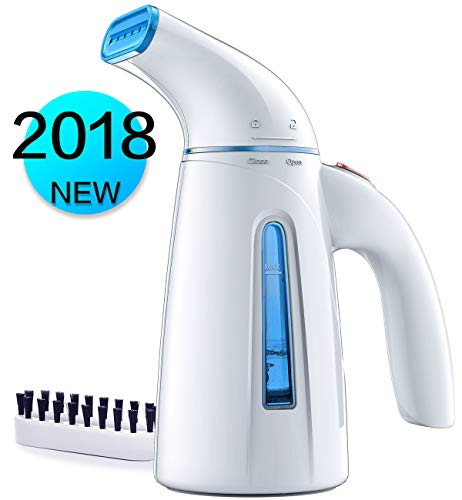 Hilife Steamer Clothes Steamer, Handheld Garment Steamer Clothing, Mini Travel Steamer Fabric Steam Iron 240ml Big Capacity Automatic Shut-Off Safety Protection
