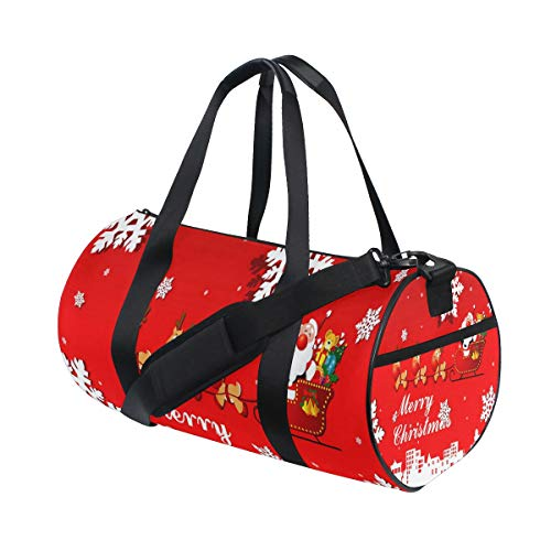 (Gym Bag Animated Christmas Clipart Happy Duffel Bag Sport Travel for Men/Women)