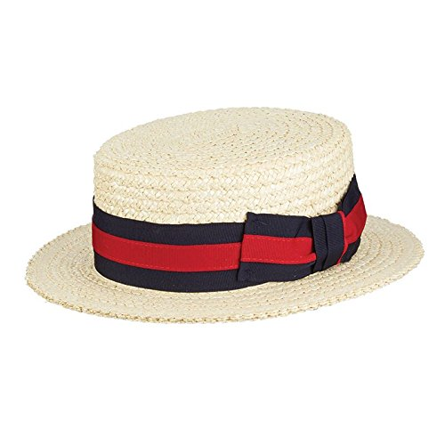 Scala Men's Laichow Braid Boater Hat,Bleach,X-Large by SCALA