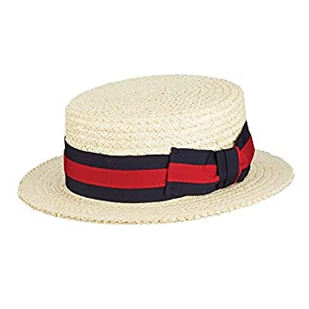 SCALA Men s Dress Straw 1 Piece 10 11Mm Laichow Braid Boater Hat (Small) 0fe24be3f2e