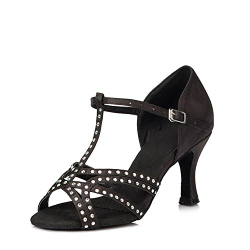 Miyoopark ,  Damen Tanzschuhe , schwarz - Black-7.5cm heel - Größe: 35