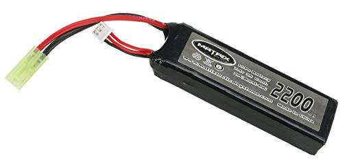 Evike Matrix 11.1V 20C 2200 mAh PEQ Style High Performance Airsoft LiPo (Lithium Polymer) Battery Pack (Style Lipo Battery)