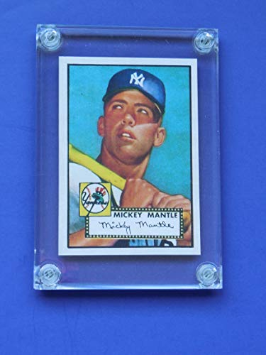"Mickey Mantle 1952 Topps Rookie Reprint Card (In a 1/4"" Thick Acrylic Case.) **Makes a great present** (New York Yankees)"