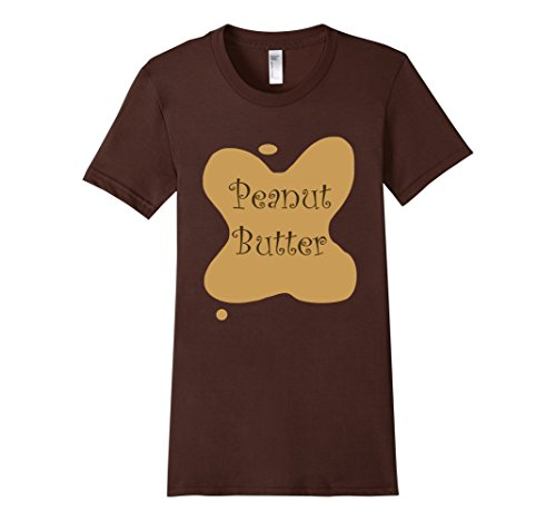 [Women's Peanut Butter & Jelly Couples Halloween Costume - His & Hers Large Brown] (Matching His And Her Costumes)