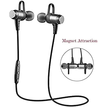 Bluetooth Headphones,Wireless Bluetooth Earbuds Headset Aumo Magnetic Sweatproof Sports Bluetooth Headphones,Lightweight Stereo Noise Cancelling Earphones for Gym,Running,Workout with Built-in Mic