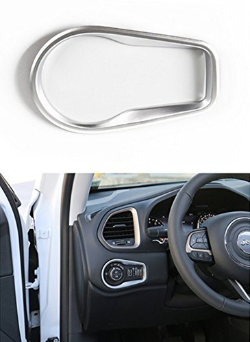 Dwindish Matte ABS Decoration Headlight Switch Frame Trim Cover for Jeep Renegade 2015 Up