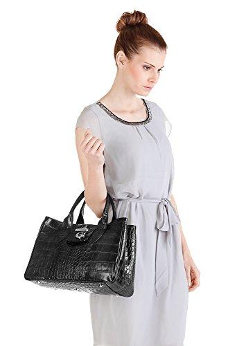 Damen Leder Glattleder Cluty Handtasche Handtasche HwxP1xvq