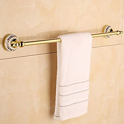EQEQ Single Rod Towel Racks, Towel Racks, Shower & Toilet Dressing Room Towel Rail Towel Pole Toilet Bath Rooms Blue Trailer & I Do Not Know Gold Porcelain ...