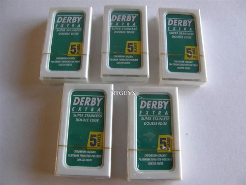 50 Derby Extra Double Edge Razor Blades Stainless