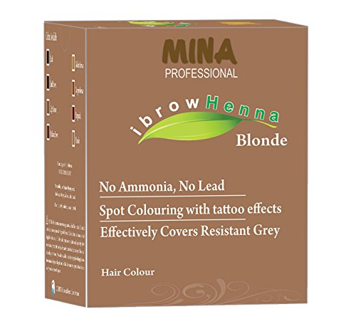 - MINA Professional Ibrow Henna Refill Pack, Tinting Kit, Brow Dye/Brow Tint (Blonde) With No Ammonia, No Lead and Stays Up to 6 Weeks