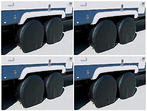 ADCO 3970 Black Single Axle Ultra Tyre Gard Tire Wheel Cover 36-39'' (4 Pair)