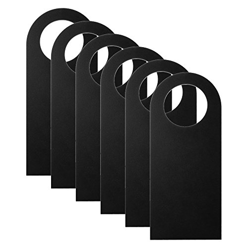 - CM Cosmos Pack of 6 Blank Two-Sided Door Knob Sign Hanger for Home Office Hotel Decoration & Sign