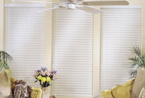 Express Faux Wood Blinds (Express 2 1/2 Inch Faux Wood Blinds 28 In X 66 In White)