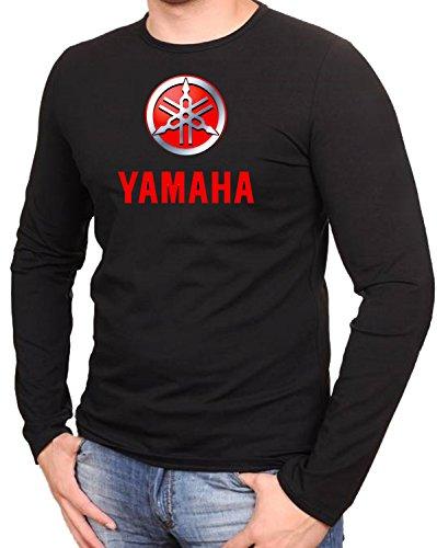 YAMAHA MOTORCYCLE Biker Motorrad Race Schwarze Langarmshirt -589-LA