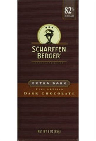 Cacao Extra Dark Chocolate - Scharffen Berger Chocolate Bar, Extra Dark, 82% Cacao, 3-Ounce bars (Pack Of 12)