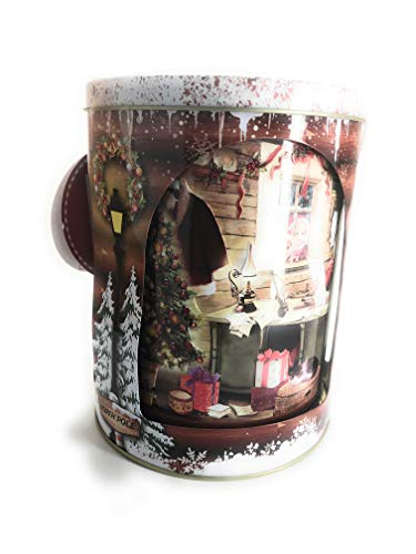 Truly Gifted Santa's Workshop Musical Christmas Tin with Pretzels and Crackers (Santa Christmas Tin)