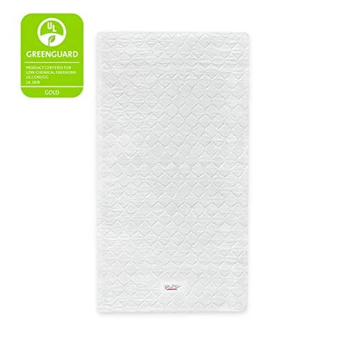 Babyletto Pure Core Non-Toxic Mini Crib Mattress with Hybrid Waterproof Cover, Greenguard Gold Certified