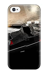 Excellent Iphone 4/4s Case Tpu Cover Back Skin Protector Mass Effect N7 Car