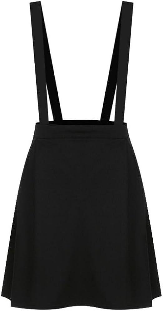 Minisoya Women Dress Ball Gown Loose Strap Cross Overalls Party Short Mini Skirt